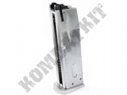 WE Airsoft Gun Magazine Clip Gas M9 M-92 Handgun GBB Silver Metal